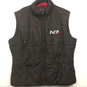 Tommy Hilfiger N7 Mens Wool Vest Sz XXL Big Logo